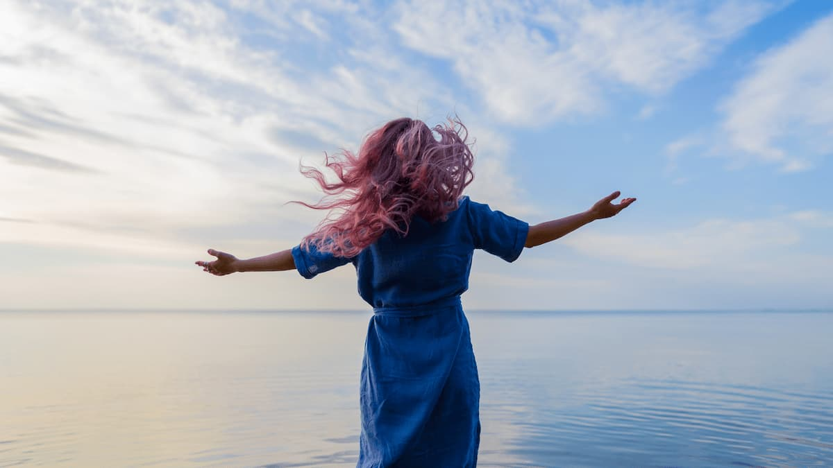 Lebensfreude, Zufriedenheit, Glücklich leben.